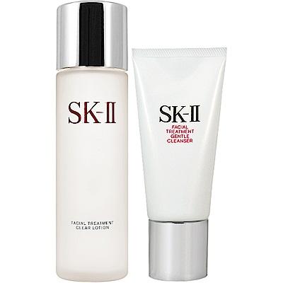SK-II 亮采化妝水(160ml)+全效活膚潔面乳(120g)