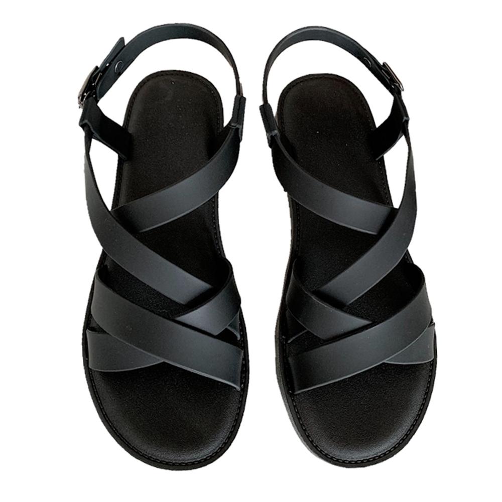 KEITH-WILL時尚鞋館 獨家價激推自然步調運休閒涼鞋-黑