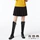 麥雪爾 經典黑百摺褲裙-黑 product thumbnail 1