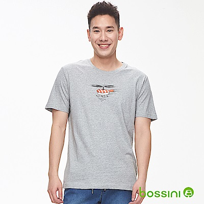 bossini男裝-印花短袖T恤02淺灰