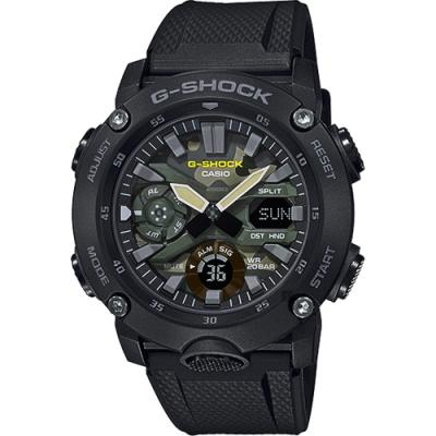 CASIO 卡西歐 G-SHOCK 迷彩軍裝手錶(GA-2000SU-1A)