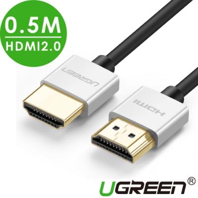 綠聯 HDMI2.0傳輸線 Zinc alloy 0.5M