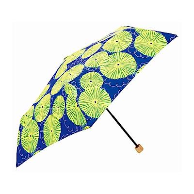 日本Prairiedog 晴雨兩用抗UV摺疊收納傘+多功能收納傘袋-蒲公英(藍)