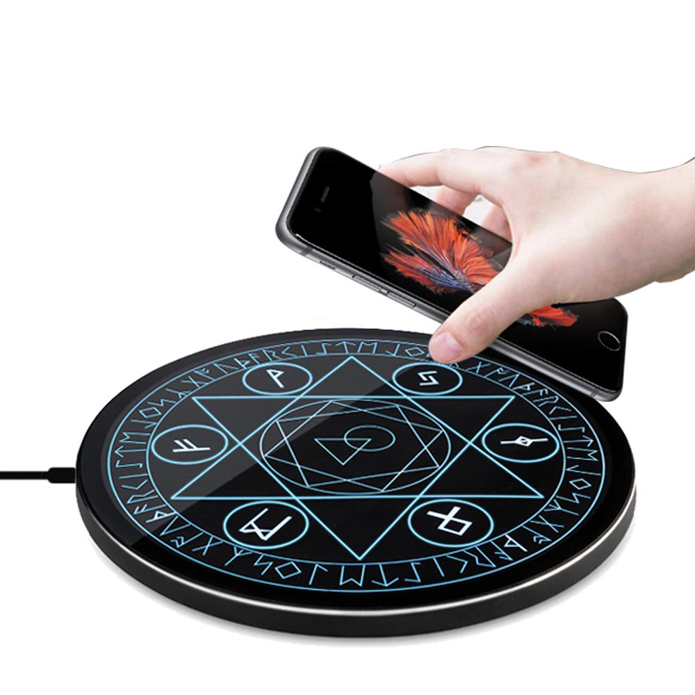 台灣製造 Mine Phone 生活魔法家 10W Qi 創意藍光魔法無線充電盤