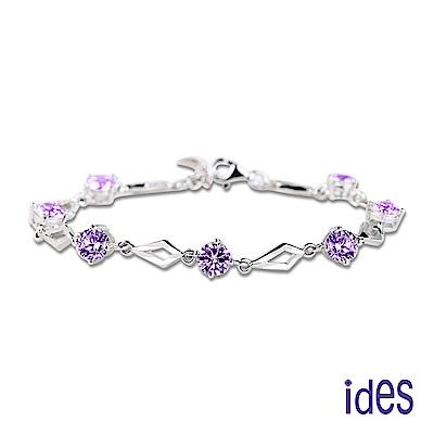 ides愛蒂思 歐美設計彩寶系列碧璽手鍊/紫色浪漫