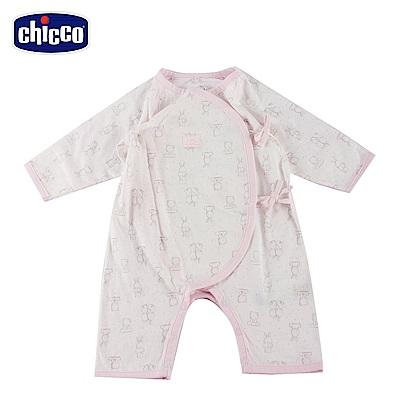chicco-肚衣式兔裝-粉(3-6個月)