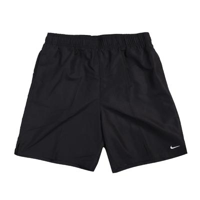 Nike 短褲 Essential Lap 膝上 男款 運動休閒 帶襯海灘褲 水上活動 輕量 黑 白 NESSA559001