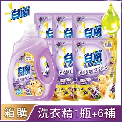 白蘭 含熊寶貝馨香精華洗衣精1+6件組_多款可選