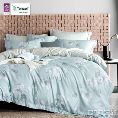 DUYAN竹漾-3M吸濕排汗奧地利天絲-單人床包+雙人薄被套三件組-淺青花語
