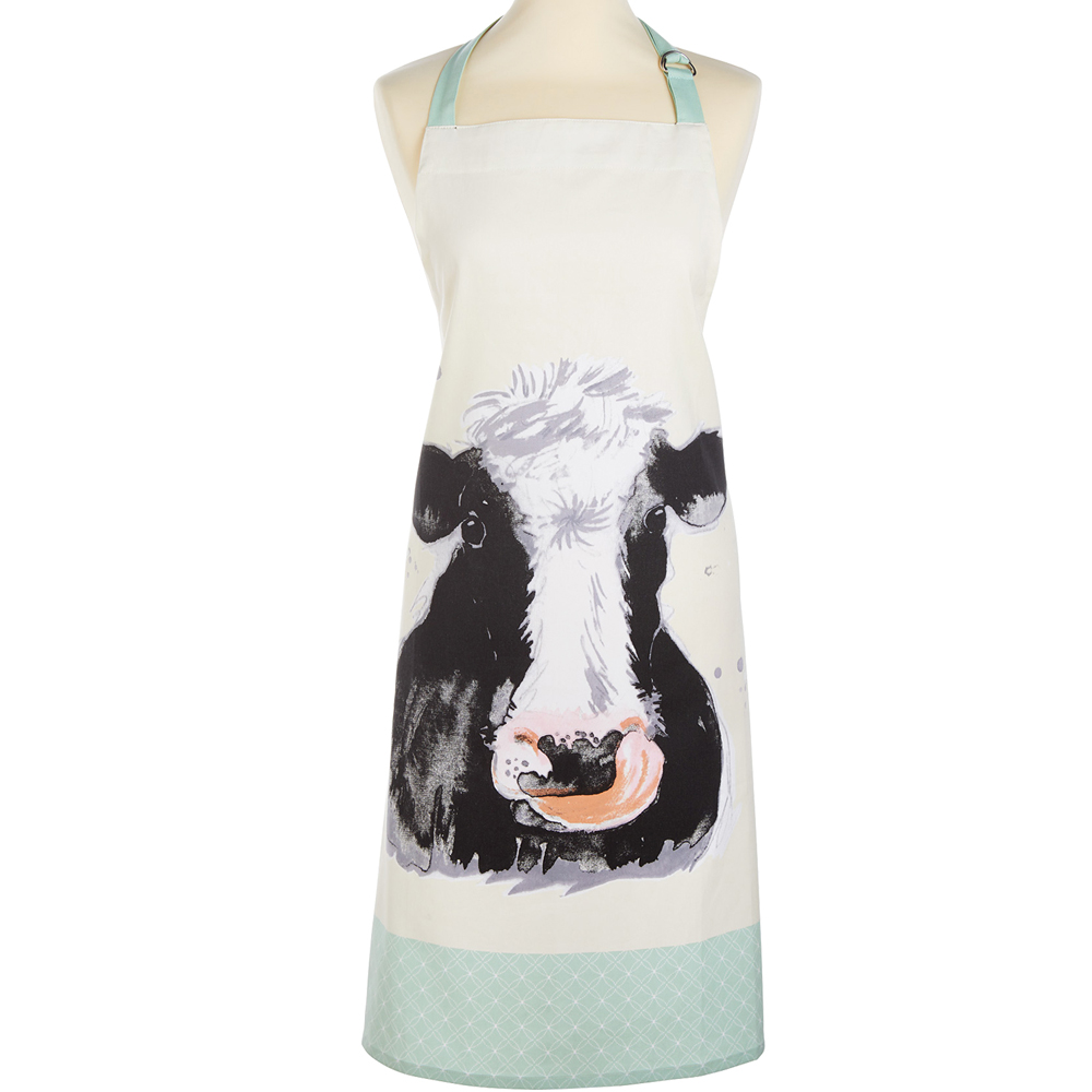 《KitchenCraft》平口圍裙(乳牛)
