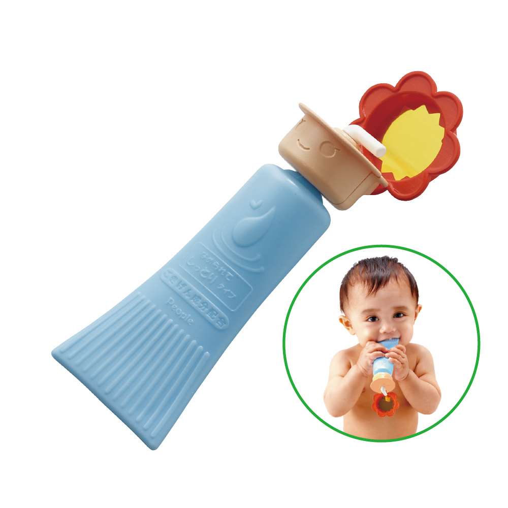 日本People-乳液瓶身咬舔玩具(固齒器/咬舔玩具)