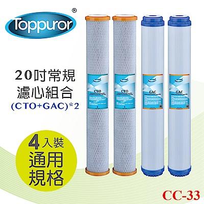 【Toppuror 泰浦樂】20吋常規 濾心組合CTOx2 GACx2(CC-33)