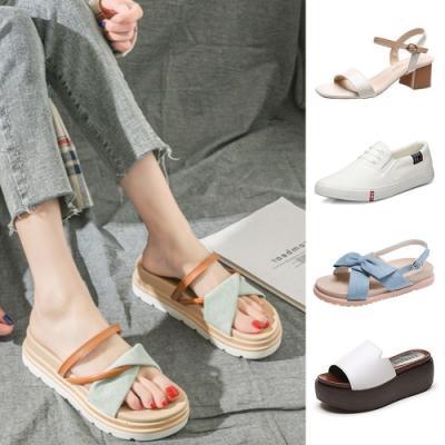【時時樂限定】LN現+預春夏涼鞋小白鞋休閒鞋 6款任選均一價