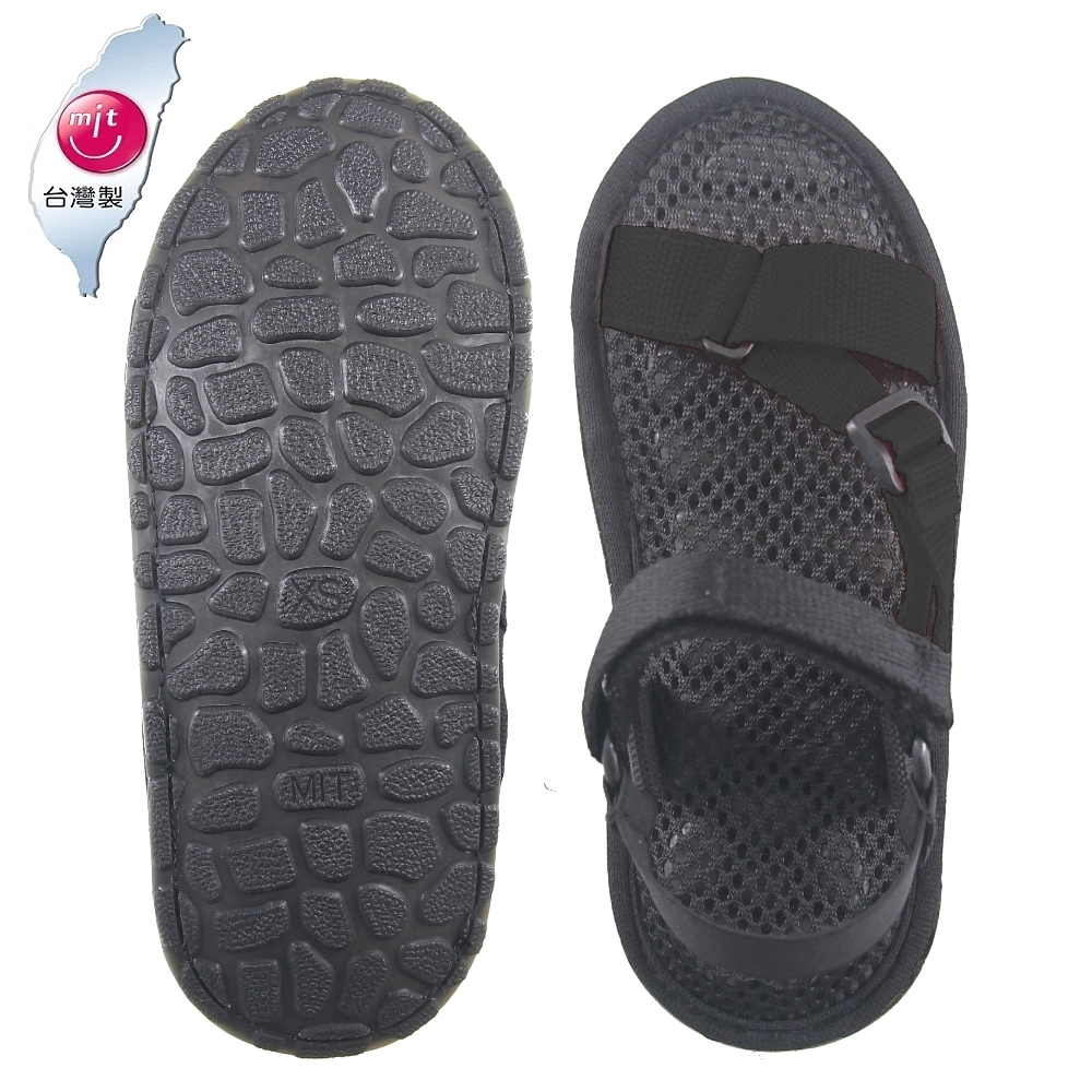 AC Rabbit 低均壓氣墊休閒涼鞋-黑色