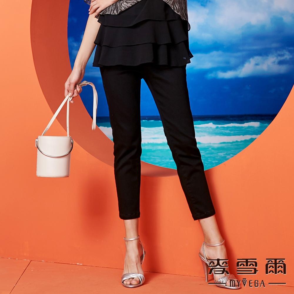 【麥雪爾】棉質彩色線條彈力長褲