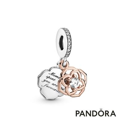 【Pandora官方直營】雙色玫瑰吊飾