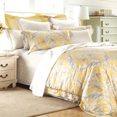 La lune 300織紗萊賽爾天絲雙人床包兩用被四件組 風鈴木花開