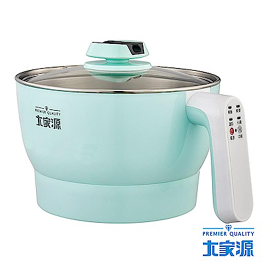 大家源2L微電腦304不鏽鋼雙層防燙美食鍋(TCY-2701B)-藍綠色