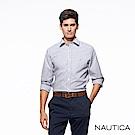 Nautica經典藍細條紋長袖襯衫