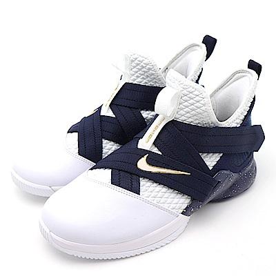 NIKE LEBRON SOLDIER 大童籃球鞋 AO2910100 米白藍