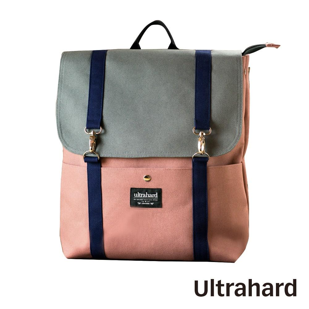 Ultrahard 閱讀作家後背包系列-莫泊桑(灰粉)