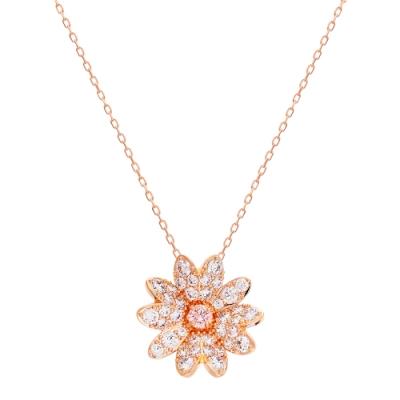 SWAROVSKI施華洛世奇ETERNAL FLOWER 玫瑰金水晶項鍊