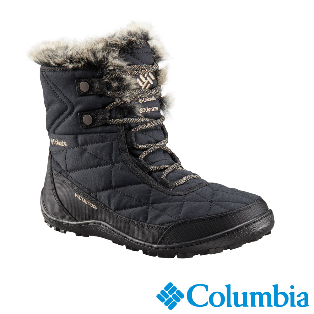 Columbia 哥倫比亞 女款-防水自體發熱保暖雪靴-黑色UBL59610