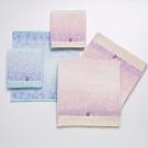 日本派迪 今治100%純綿漸層染色毛巾二入組(藍+粉紫)