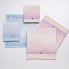 日本派迪 今治100%純綿漸層染色方巾+毛巾二入組(水藍色)