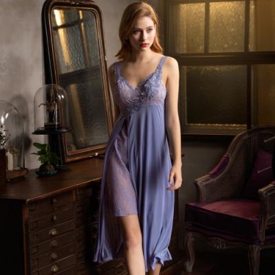 華歌爾睡衣-神秘魔法 M-LL 性感長裙裝(紫)