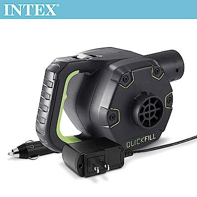 INTEX 3合1可蓄電充氣幫浦110V 12V 蓄電池(充洩二用)(66641)