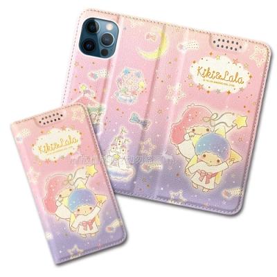 三麗鷗授權 Kikilala 雙子星 iPhone 12 / 12 Pro 6.1吋 共用 緞帶彩繪磁力皮套(雙子)