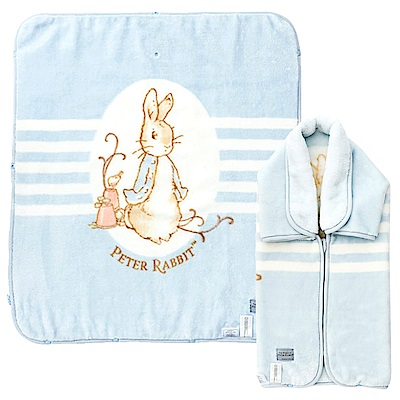奇哥 經典比得兔嬰兒防踢袖毯禮盒-藍色