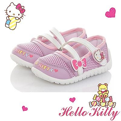 HelloKitty童鞋 輕量透氣減壓抗菌防臭室內外娃娃鞋-紫