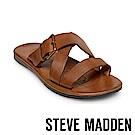 STEVE MADDEN-SUSPENSE扣帶式男士夏季涼拖鞋-棕色