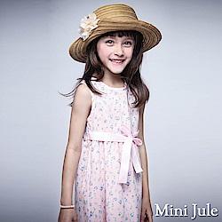 Mini Jule 洋裝 滿版玫瑰綁帶無袖洋裝(粉)