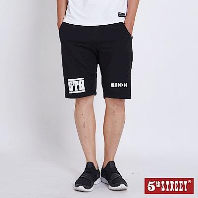 5th STREET 休閒運動短褲-男-黑色