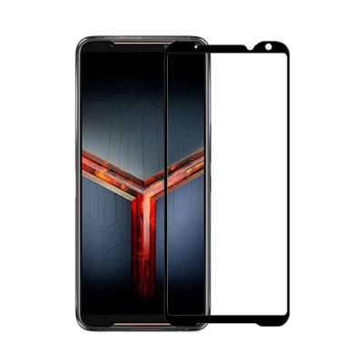 IN7 ASUS ROG Phone 2 ZS660KL (6.59吋) 高清 高透光2.5D滿版9H鋼化玻璃保護貼 疏油疏水 鋼化膜-黑色