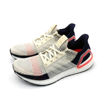 ADIDAS UltraBOOST 19 男跑步鞋 米藍
