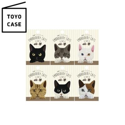 日本TOYO CASE 貓咪造型刺繡布貼SS-CAT(日本平行輸入)