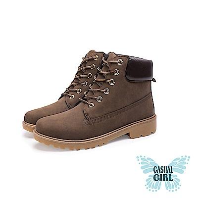 Casual Girl「USA」美式工作靴 (棕色)