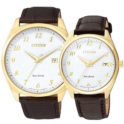 CITIZEN Eco-Drive 美好懷舊光動能時尚對錶