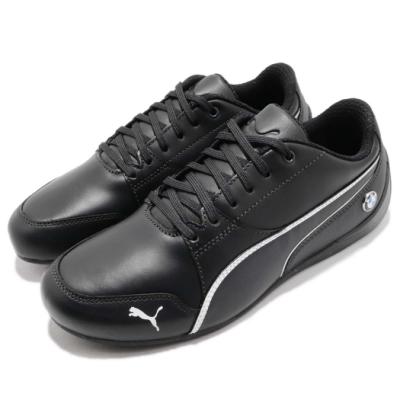 Puma 休閒鞋 MS Drift Cat 7 運動 男女鞋 BMW 賽車鞋 聯名 皮革 簡約 穿搭 黑 白 30598604