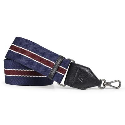MARKBERG Finley 丹麥手工時尚編織寬版肩揹帶 (藍白紅)