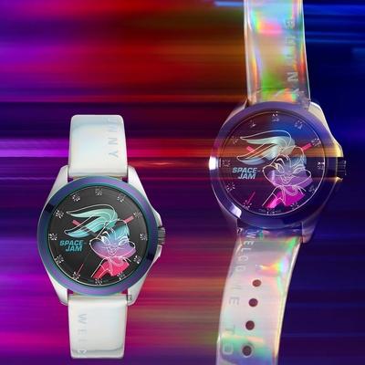FOSSIL 怪物奇兵 Space Jam 蘿拉兔 電影聯名限量錶 套錶-36mm LE1127SET