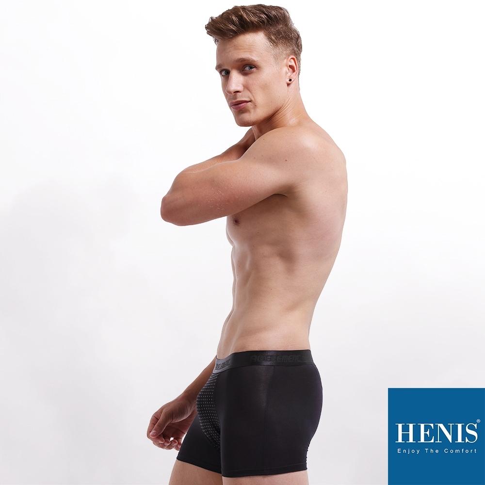 HENIS FORCE 磁石原力 透氣機能 能量四角褲 (黑)