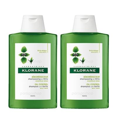 Klorane蔻蘿蘭 蕁麻控油洗髮精 400ml(雙入組)