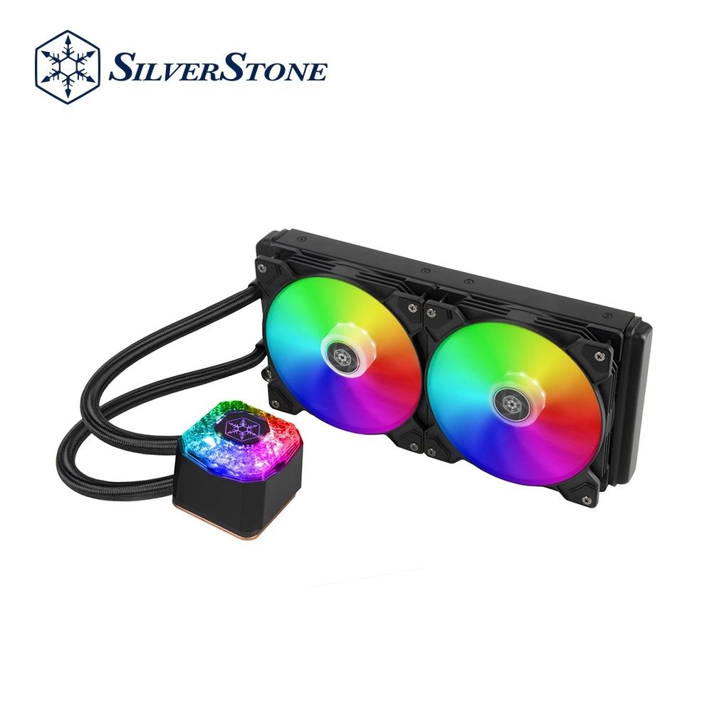 SilverStone銀欣 IceGem 280 高冷卻性能 ARGB 一體式水冷散熱器(搭配 2 x 140mm ARGB 風扇
