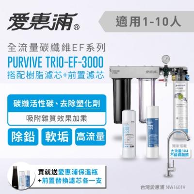 愛惠浦 壓力錶吊架型三道式淨水器 EVERPURE PURVIVE-TRIO EF3000