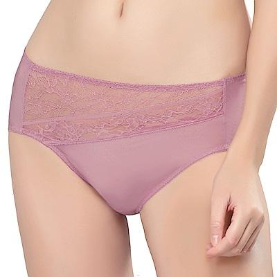 思薇爾 維納斯系列M-XXL蕾絲中腰三角內褲(舒活粉)